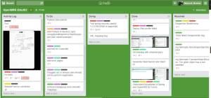 Trello Board used for developing the OAuth2 prototype